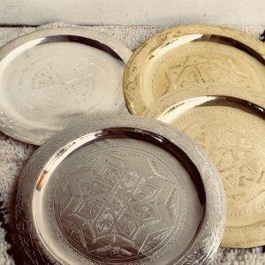 モロッコ 真鍮トレイ30