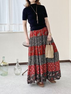 Used ethnic Tiered long skirt