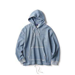 Stitched Denim Hoodie / Ice Wash
