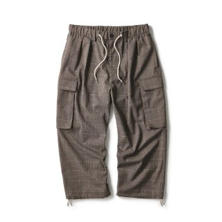 Plaid Comfy Cargo Pants / Brown Plaid