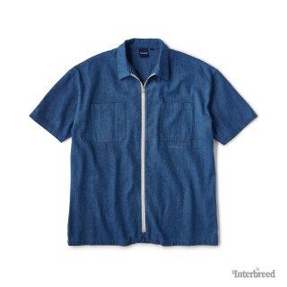 Indigo Zip Shirts / Mid Wash