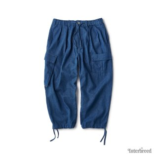 Indigo Farmer Pants / Mid Wash