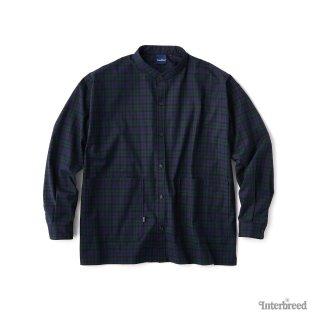 Patterned Stand Collar Shirts / Blackwatch