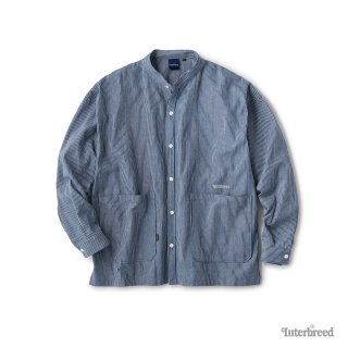 Patterned Stand Collar Shirts / Hickory