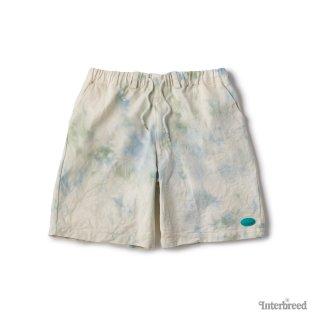 Spring Tone Tie Dye Shorts / Blue