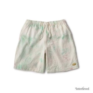 Spring Tone Tie Dye Shorts / Brown