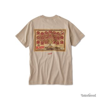 "RAW × INTERBREED ""Tree Of RAW SS Tee"" / Sand"
