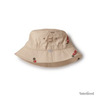 "RAW × INTERBREED ""Logo Textile Hat"" / Natural"