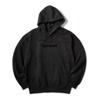 Pile Patched Logo Hoodie / Black