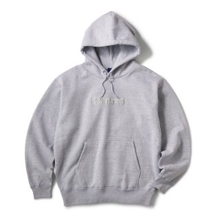 Pile Patched Logo Hoodie / H Grey