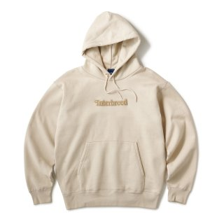 Pile Patched Logo Hoodie / Sand