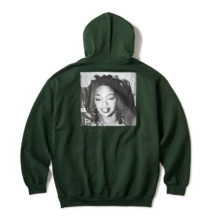 """Ernie Paniccioli for INTERBREED """"L.Boogie Off Shot Hoodie"""" / Forest Green"""