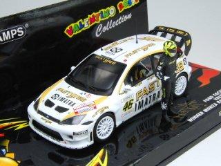 1/43 フォード フォーカス RS WRC モンツァラリーショー 優勝 2006 #46 V.Rossi フィギュア付<br>