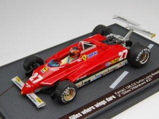 1/43 フェラーリ 126C2 ターボ ロングビーチ 1982 #27 G.ヴィルヌーブ フィギュア付<br>