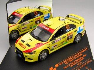 1/43 三菱 ランサー エボリューション X ラリー・イタリア グループN 3位 2009 #63 J.Nikara<br>