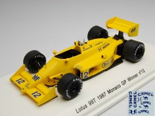 1/43 ロータス 99TモナコGP 優勝 1987 #12 A.セナ<br>