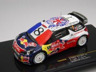 1/43 シトロエン DS3 WRC ウェールズGBラリー 2011 #1 S.Loeb フランス国旗付き<br>
