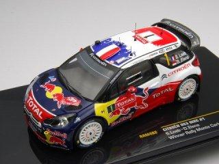 1/43 シトロエン DS3 WRC ラリーモンテカルロ 優勝 2012 #1 S.Loeb<br>