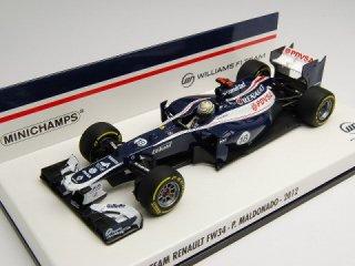 1/43 ウィリアムズ F1チーム ルノー FW34 2012 #18 P.マルドナド<br>
