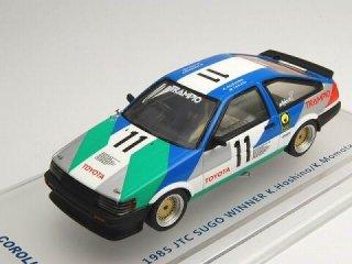 1/43 トヨタ カローラ レビン TRAMPIO Gr.A JTC SUGO 優勝 1985 #11<br>