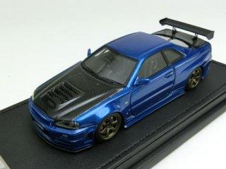 1/43 ニッサン R34 GT-R Z-tune ベイサイドブルー<br>