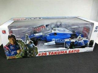 1/18 INDYCAR HONDA Andretti Racing インディ500 優勝 2017 #26 佐藤琢磨<br>