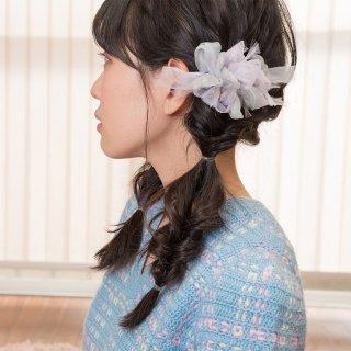 mini|スミレ|彩る咲き編みバレッタ/ヘアクリップ