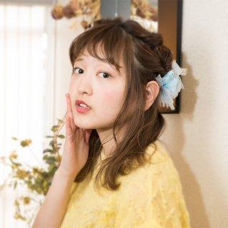 mini|ワスレナグサ|彩る咲き編みバレッタ/ヘアクリップ