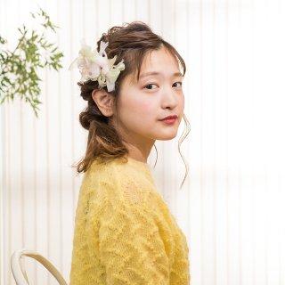 mini|サクラ|彩る咲き編みバレッタ/ヘアクリップ