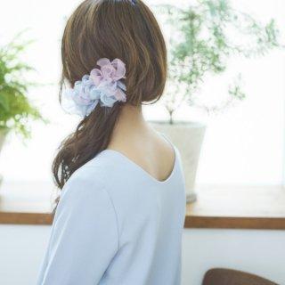 アジサイ|彩る咲き編みバレッタ/ヘアクリップ