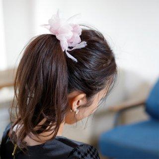 mini|レンゲ|咲き編みシュシュ