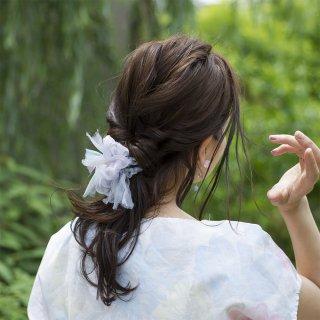 mini|アジサイ|咲き編みシュシュ