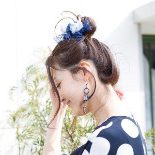 mini|マリン|咲き編みシュシュ