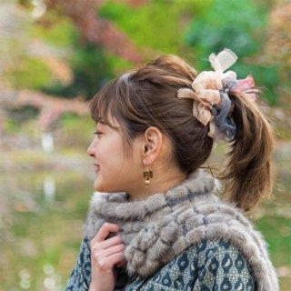 ベーシック|彩る咲き編みシュシュ