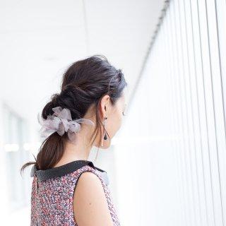 mini|オフィス|咲き編みシュシュ