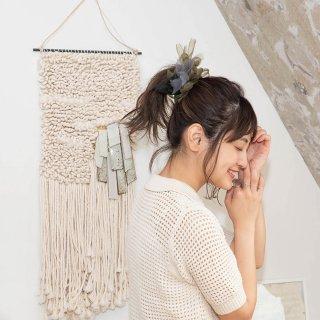 カモフラ|彩る咲き編みシュシュ