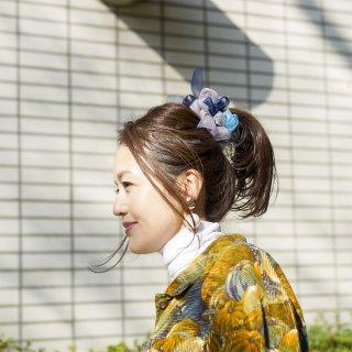 60's|彩る咲き編みシュシュ