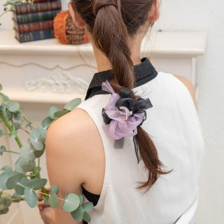 mini|魔女|咲き編みシュシュ