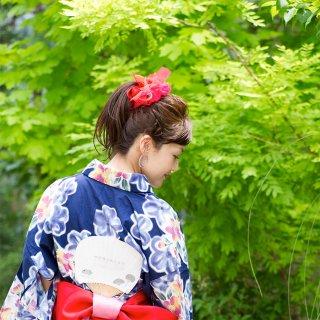 金魚|彩る咲き編みシュシュ
