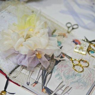【春限定】ビオラ|彩る咲き編みシュシュ