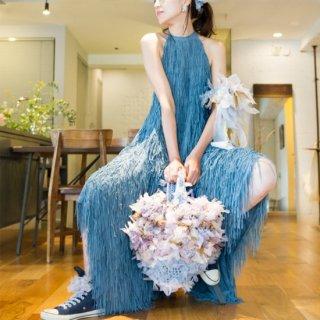 ヴィンテージカラー|咲き編みフラワーバスケット