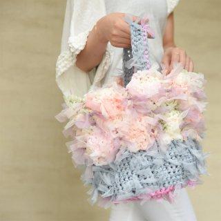 オトナパステル|咲き編みフラワーバスケット
