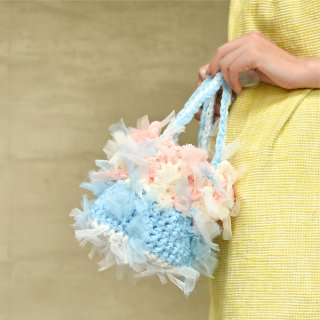 ラブリーパステル|プチ|咲き編みフラワーバスケット