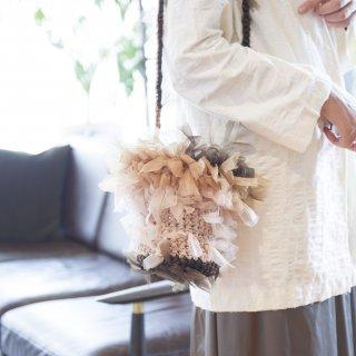 バスケット|咲き編みフリルバッグ|2way