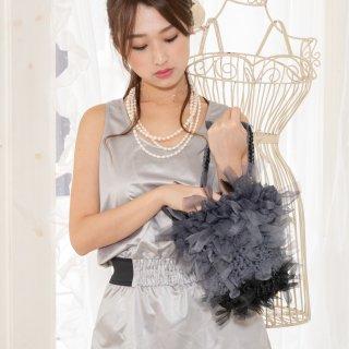 モノトーン|咲き編みフリルバッグ|2way