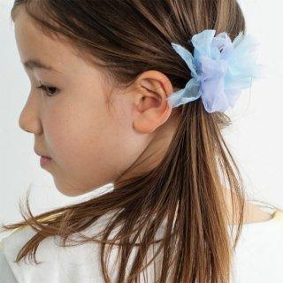 【for Kids】咲き編みヘアゴム|マーメイド(ブルー)