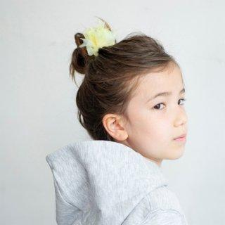 【for Kids】咲き編みヘアゴム|チアフル(イエロー)