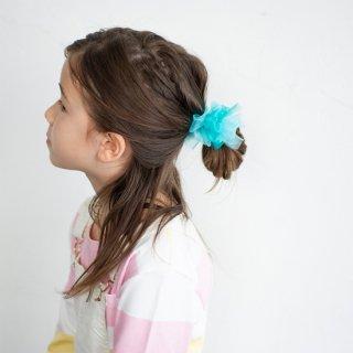 【for Kids】咲き編みヘアゴム|ジェム(グリーン)