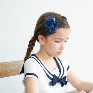 【for Kids】咲き編みパッチン|セーラー(ネイビー)