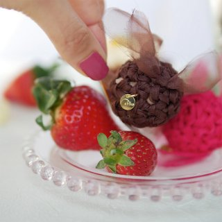 チョコ|彩る咲き編みポニーフック